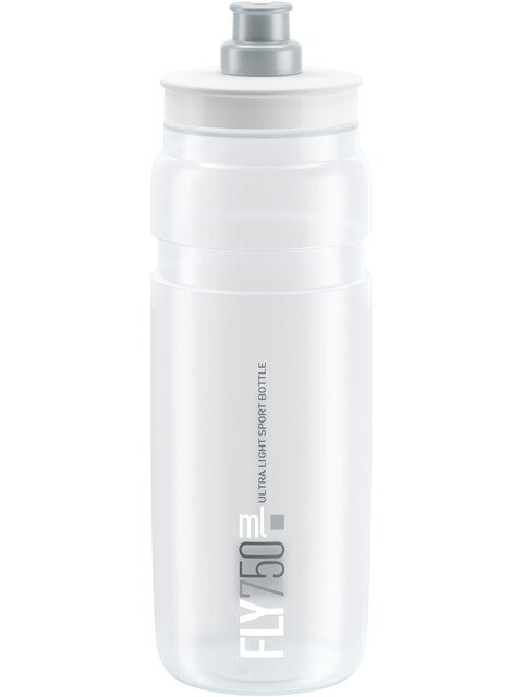 Elite Fly Trinkflasche 750ml clear/graues logo